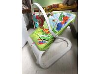 Fisher Price baby bouncer with vibration.