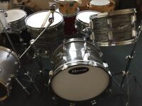 Rogers Drum Kit in blue oyster