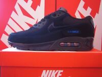 Brand new in box NIKE AIR MAX 90 *BLACK/SKY BLUE* Click & read for details