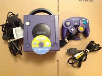 Purple Nintendo Gamecube Console and 1 Game: Sonic Mega Collection