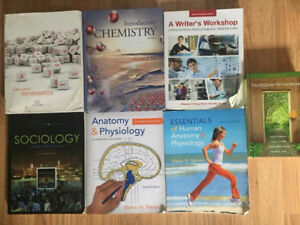 Set of Pre-Health Textbooks