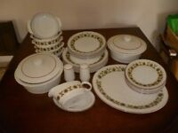 Pool Potery Dinner set 29 pieces.
