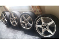"""19"""" GENUINE MERCEDES CLS AMG RONAL (OEM) alloys Wheels and Continental Tyres"""