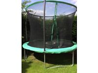 10ft trampoline, hardly used, as new