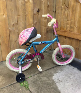 "14"" kids bike with helmet"