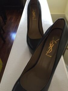 YSL Tribtoo Black Leather Pumps