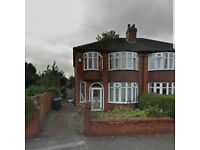 CHORLTON WHITEMOSS AVENUE Semi detached house 3 bedroom to rent in popular quiet area