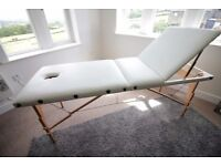 Massage Imperial® Charbury Ivory White 2-Section Portable Massage Table Couch Bed Spa