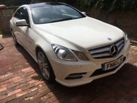 Mercedes E350 coupe white