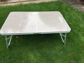 Outwell adjustable height camping table