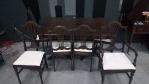STILL AVAILABLE! Mahogany Duncan Phyffe Dining Table & 6 Chairs