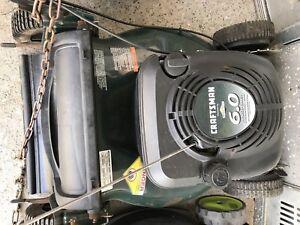 Craftsman 6 hp self propelled lawn mower $125