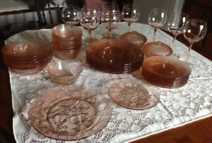 Pink Glass dinnerware