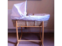 Moses basket from Claire de lune