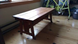 Ash Coffee Table and 2 end tables matching