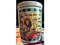 BORN TO SHOP - TEA - COFFEE - SUGAR JARS