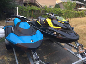 2013 SeaDoo RXP-260 and 2016 SeaDoo Spark 3up (+ double trailer)