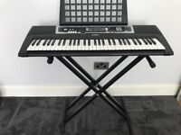 Yamaha YPT-210 keyboard, with stand, in superb condition with manual.