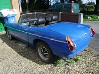 1977 MGB Roadster, abandoned project due to retirement. NO WELDING REQUIRED