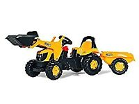Rolly Toys Rolly Kid JCB Tractor with Frontloader and Trailer