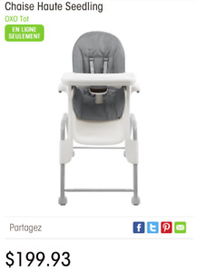 OXOX Feeding chair - grey