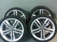 Here I'm selling 2017 s5 wheels with hankook tyres. Also breaking full s5 sportback.
