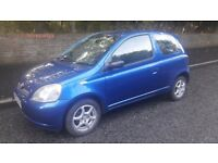 52 reg Toyota yaris 3Dr only 73,000 miles 12 months m.o.t.
