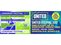 Ceremony Festival & United Festival Tickets