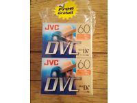 4 JVC Mini DVM60ME tapes