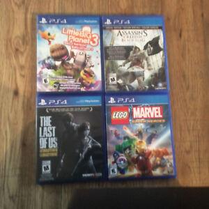 3 jeux de PS4 en bonne état