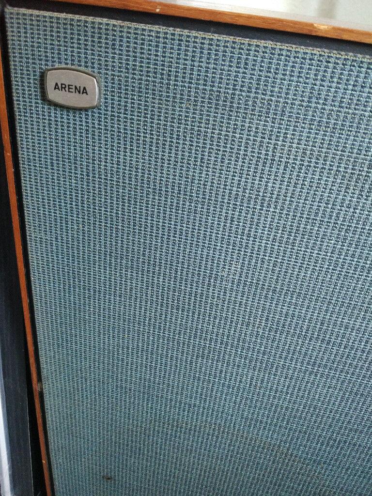 Arena Speakers Vintage Wood Large Working Floor Standing | in Dundee ...
