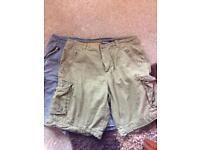 2 pairs cargo shorts size 38w
