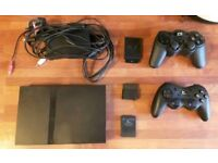PLAYSTATION 2 SLIM PS2 , WIRELESS CONTROLLERS AND 19 GAMES