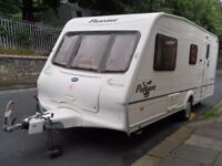 Bailey Pageant Moselle Four Berth Touring Caravan L Shaped Lounge