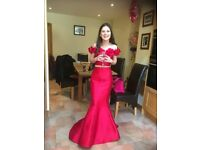 Beautiful Red Sherri Hill Two Piece/ Dress / Possible Prom