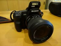 Sony Alpha -A200 DSLR with Sony HVL-F20AM hot-shoe flash and assessories
