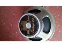 guitar speaker vintage 30 80w