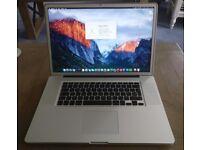 """17"""" MacBookPro5,2 (A1297), 2.93GHz Intel C2D, 8GB DDR3, nVidia 9600M GT 512MB, 320GB HDD, El Capitan"""
