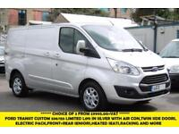 2013 FORD TRANSIT CUSTOM 330/155 LIMITED L1H1 SWB RARE DIESEL VAN IN SILVER WITH