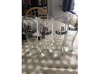 4x Bulmers Pint Glass