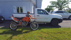 2006 Tacoma 2x4 and 2003 KTM 525 EXC