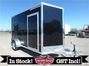 6 x 12 Enclosed -*ALL ALUMINUM*- Trailer by Alcom -*Tax In!*-