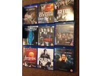 9 bluray dvds