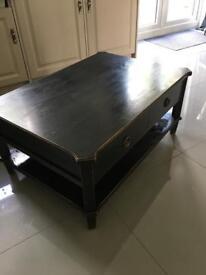 Laura Ashley black coffee table