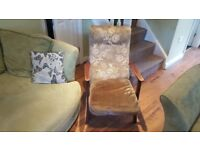 Vintage Retro Parker Knoll Style  High Back Armchair Fireside Chair Bedroom Chair