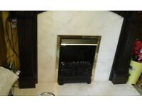 Fireplace surround and heater