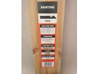 Torus skirting board, pine, pack of 4, 2.4 m each