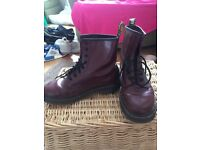 Cherry Red Doc Martins size 5