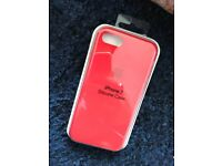 iPhone 7 apple genuine silicone case RED