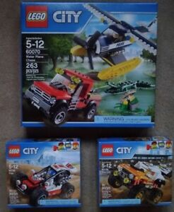 Lego City: 60070 Water Plane, 60146 Truck, 60145 Buggy (NEW!)